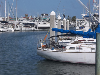 Boats at Sea Breeze Suites Port Aransas.