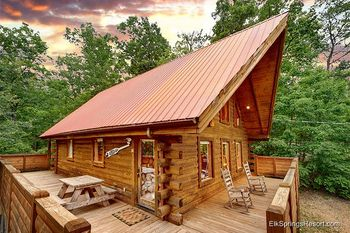Cabin exterior at Elk Springs Resort.