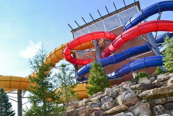 Water slide at Split Rock Resort & Golf Club.