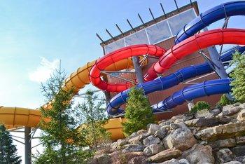 Water slide at Split Rock Resort & Golf Club.