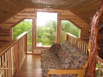 Cabin Interior View at Can-U-Canoe Riverview Cabins