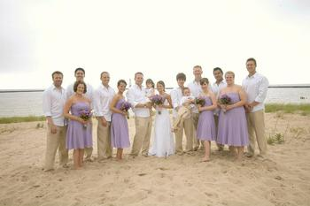 Wedding on the beach at Harbor Lights Resort.