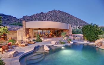 Vacation rental pool at SkyRun Vacation Rentals - Scottsdale, Arizona.