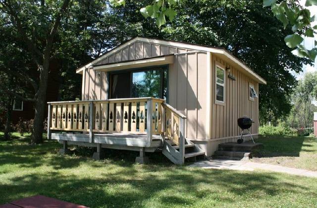 Cabin exterior at Big McDonald Resort.