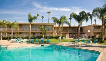 Outdoor pool at Days Inn Palm Springs.