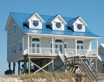 Rental exterior at Cape San Blas Vacation Rentals.