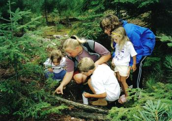 Nature hikes at Lodge of Whispering Pines.