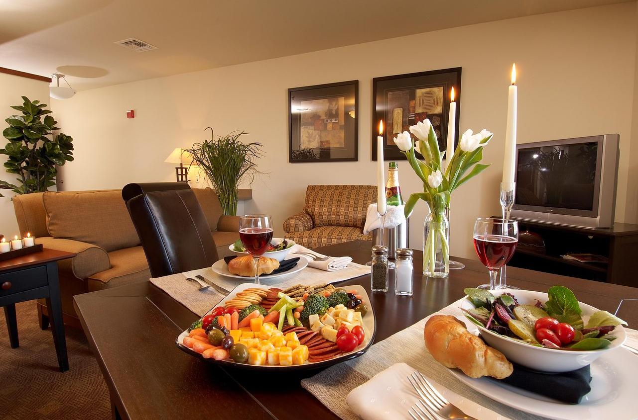 Guest suite at South Walton Suites.
