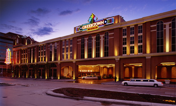 Exterior view of Greektown Casino Hotel.