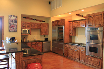 Guest kitchen at Flying L Guest Ranch.