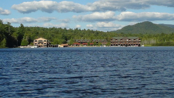 Lake view at Ampersand Bay Resort & Boat Club.