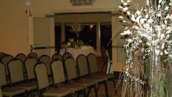 Spacious banquet rooms at Driftwood Shores Resort.