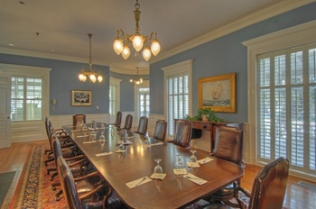 Meeting room at Jekyll Island Club Hotel.