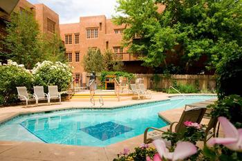 Outdoor pool at Hotel Santa Fe