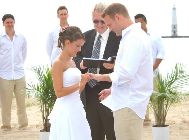 Wedding at Harbor Lights Resort.