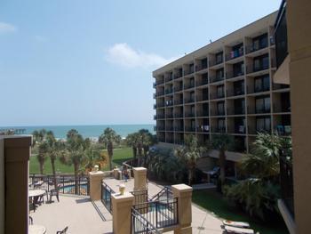 Resort view at Springmaid Beach Resort.