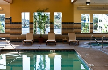 Indoor pool at Driftwood Shores Resort.