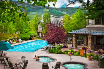 Outdoor pool at East West Resorts Beaver Creek.