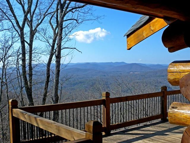 Blue ridge vacation rentals cabin breathtaking views for Large cabin rentals north georgia