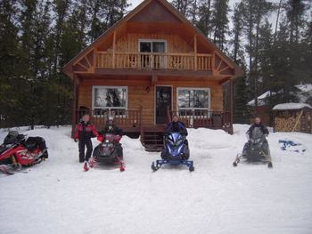 Snowmobiling at Golden Eagle Camp