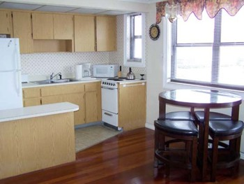 Vacation rental kitchen at Gulf Winds Resort Condominiums.