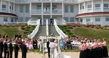 Wedding ceremony at Blue Harbor Resort & Spa.