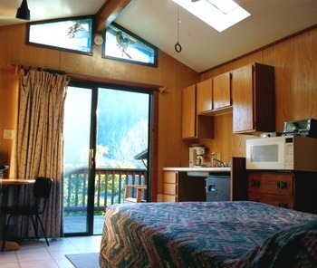 Cabin interior at Riverlane Resort.
