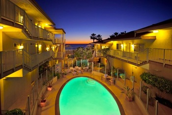 Outdoor pool at Best Western-Beach View.