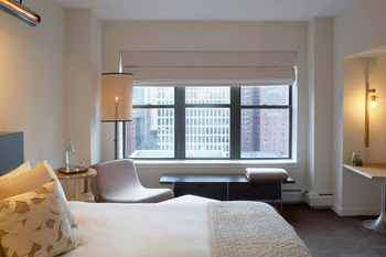 Guest room at James Hotel Chicago.