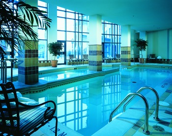 Indoor pool at Fairmont Tremblant Resort.