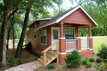 Cabin exterior at Mill Creek Ranch Resort.