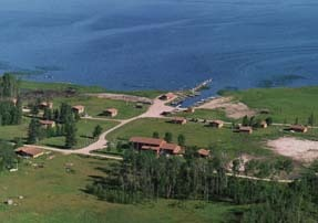 Aerial view of property at Angle Outpost Resort & Conference Center.