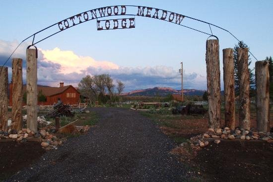 Lodge entrance at Cottonwood Meadow Lodge.