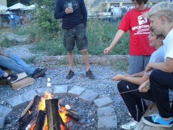 Roasting Marshmallows at Semiahmoo Resort