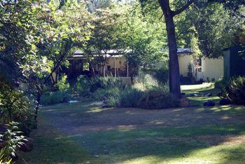 Exterior view of Backyard Garden Oasis B & B.