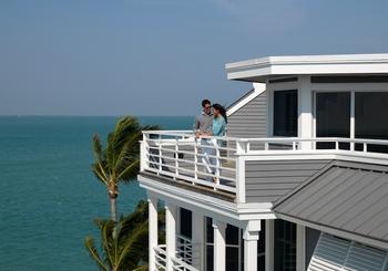 Balcony view at South Seas Island Resort.