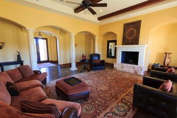 Rental living room at The Vineyard at Florence.