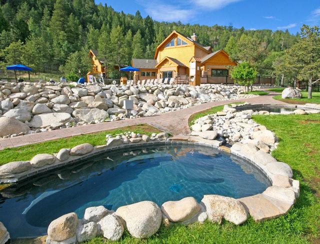 Hot spring at Mt. Princeton Hot Springs Resort.
