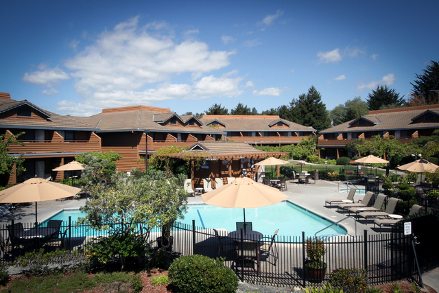 Outdoor pool at Best Western Seacliff Inn.