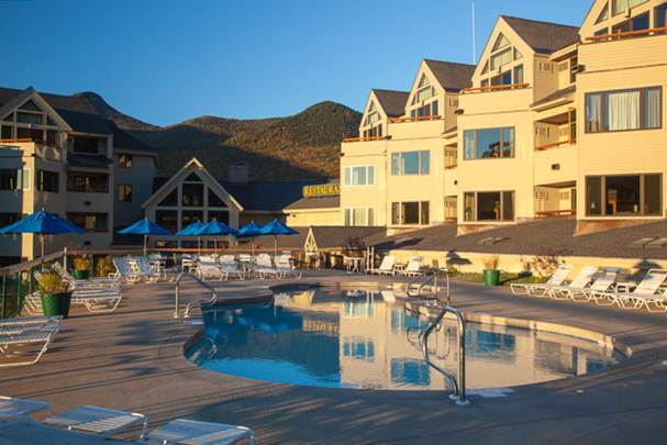 Outdoor pool at The Mountain Club.
