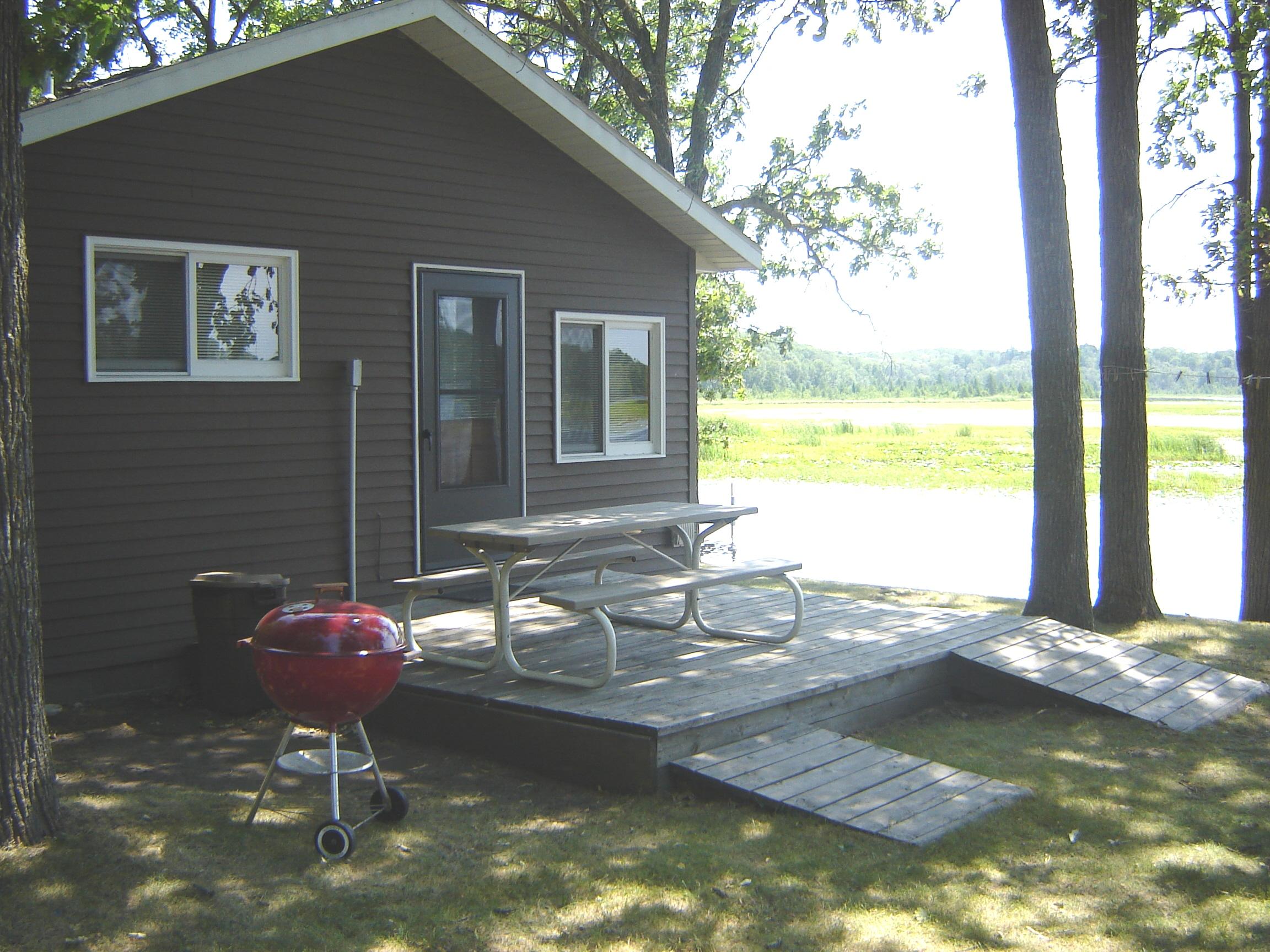 Cabin exterior at Point Narrows Resort.
