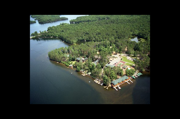 Aerial view of Chippewa Retreat Resort.