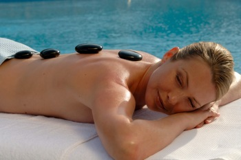 Hot stone massage at EuroSpa & Inn.