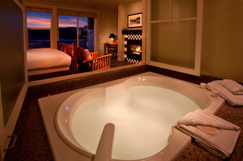 Jacuzzi suite at The Resort At Port Ludlow.