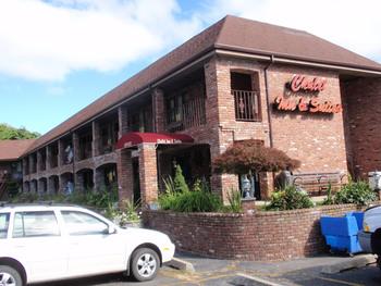 Exterior view of Chalet Motor Inn.