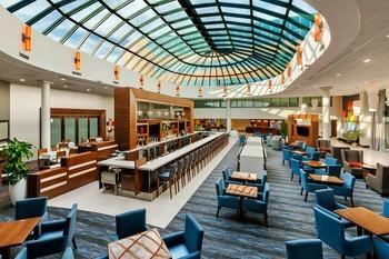 Lobby view at Hilton-Long Island.