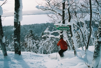 Skiing at Inn on Lac Labelle.