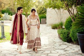 Wedding couple at Lakeway Resort and Spa.
