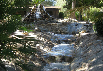 Fountain at Canyon Ranch Tucson.