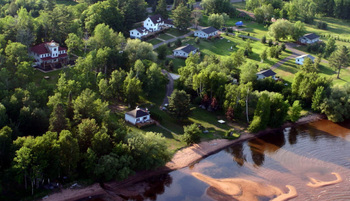 Aerial view of Superior Rentals.
